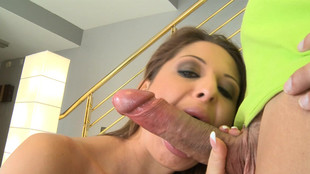 Alison Star suce et branle un géant pénis veineux